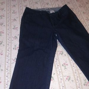 Dockers denim cropped wide-leg jeans size 12